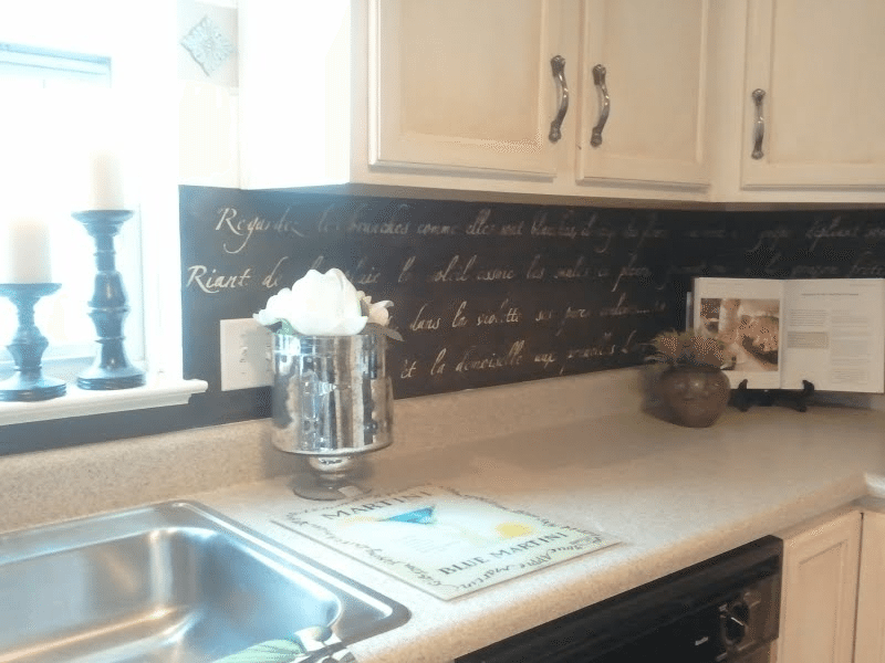 DIY: Stenciled Backsplash
