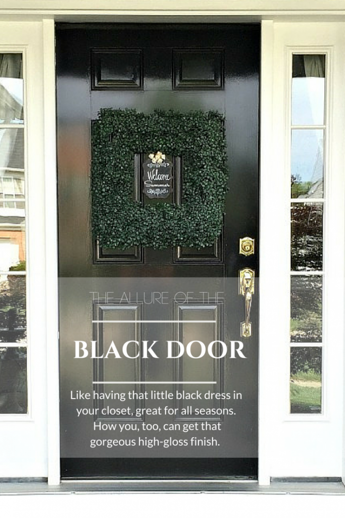 Black Front Door by SnazzyLittleThings.com