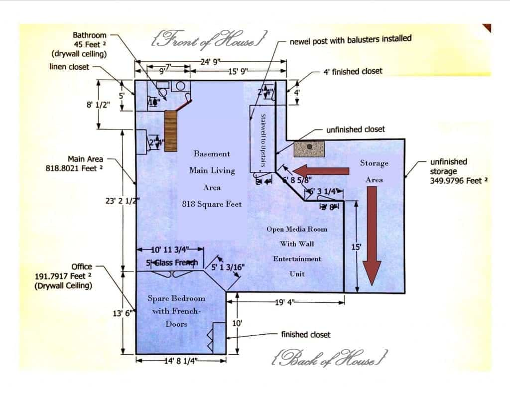 industrial basement floorplan