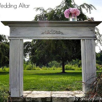 wedding altar…built from scratch