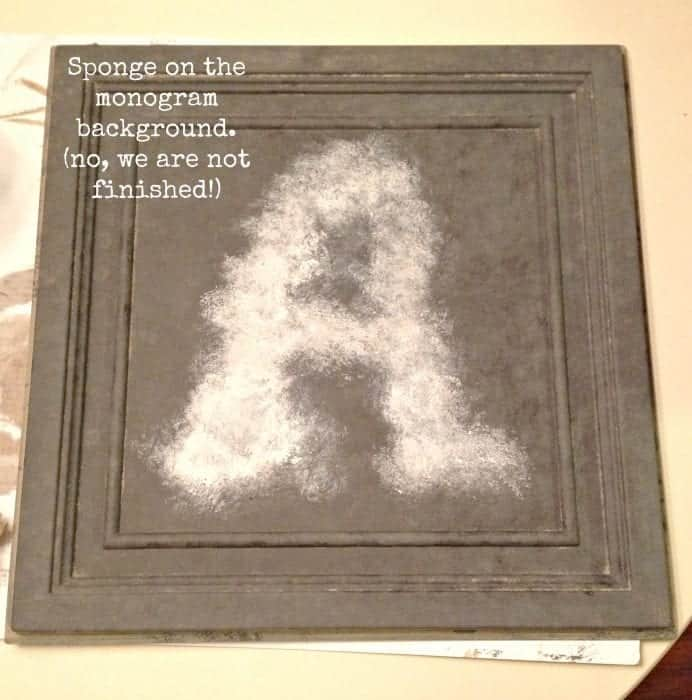 sponged on monogram