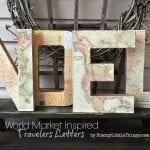 """World Market """"Inspired"""" Traveler Letters"""