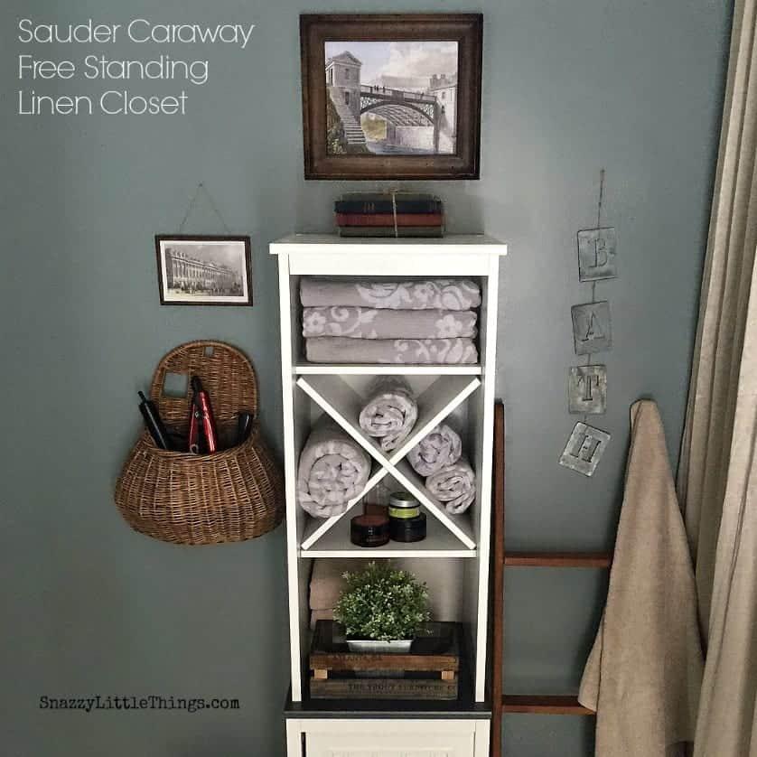 Sauder Caraway Linen Closet from Wayfair.com - by SnazzyLittleThings.com