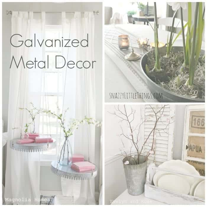 Galvanized Metal Decor | a round up by SnazzyLittleThings.com