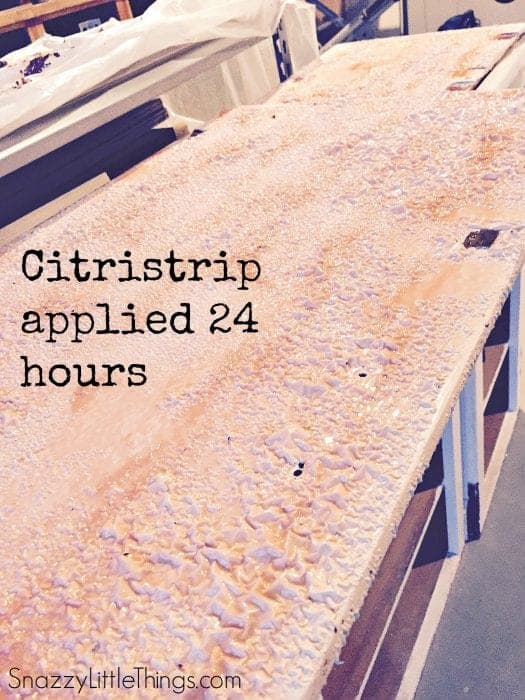 Citristrip Stripping Agent on Paint