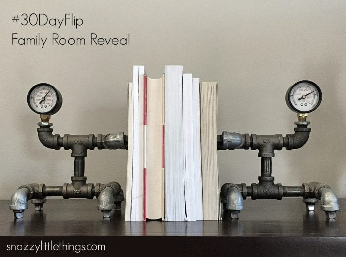 Industrial Decor Family Room Reveal| by Snazzylittlethings.com