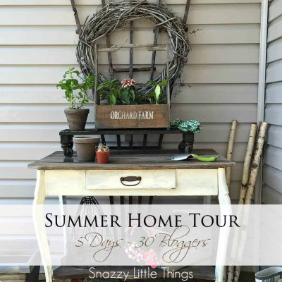 Cover Front Porch Potting Table @snazzylittlethings