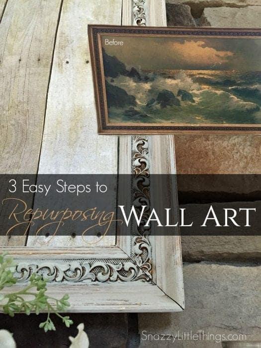 3 Easy Steps to Repurposing Wall Art