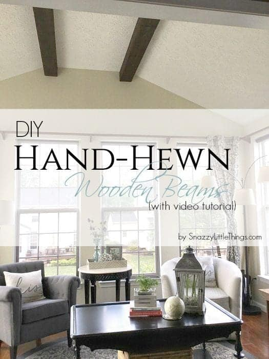 Hand Hewn Wood Beams by SnazzyLittleThings.com