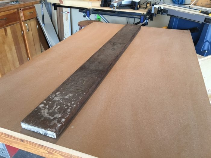 How to Mill Lumber at Home Before Photo