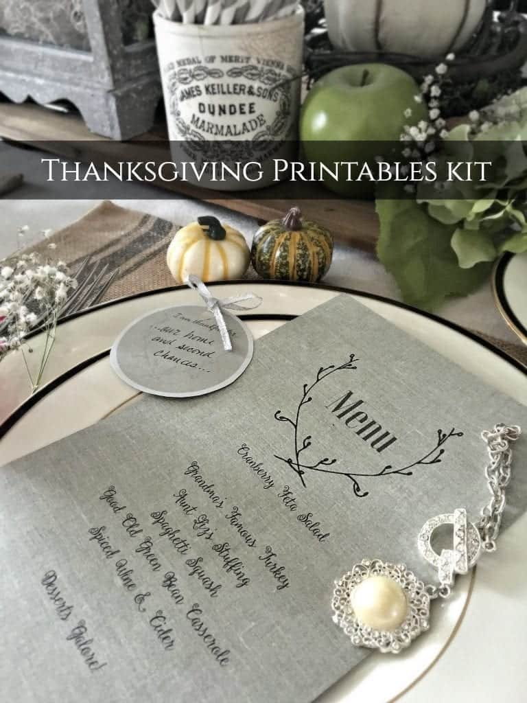 Thanksgiving Printables Kit 2