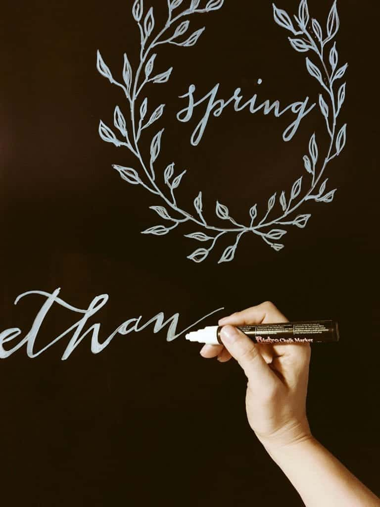 Calligraphy Chalkboard by SnazzyLittleThings