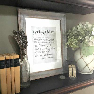 """Free """"springtime"""" printable"""