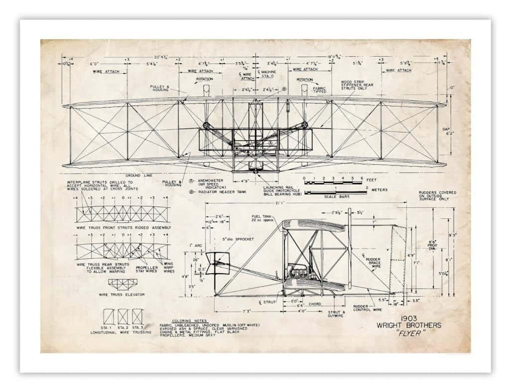 Wright Brothers Architectural Drawings Snazzy Little Things