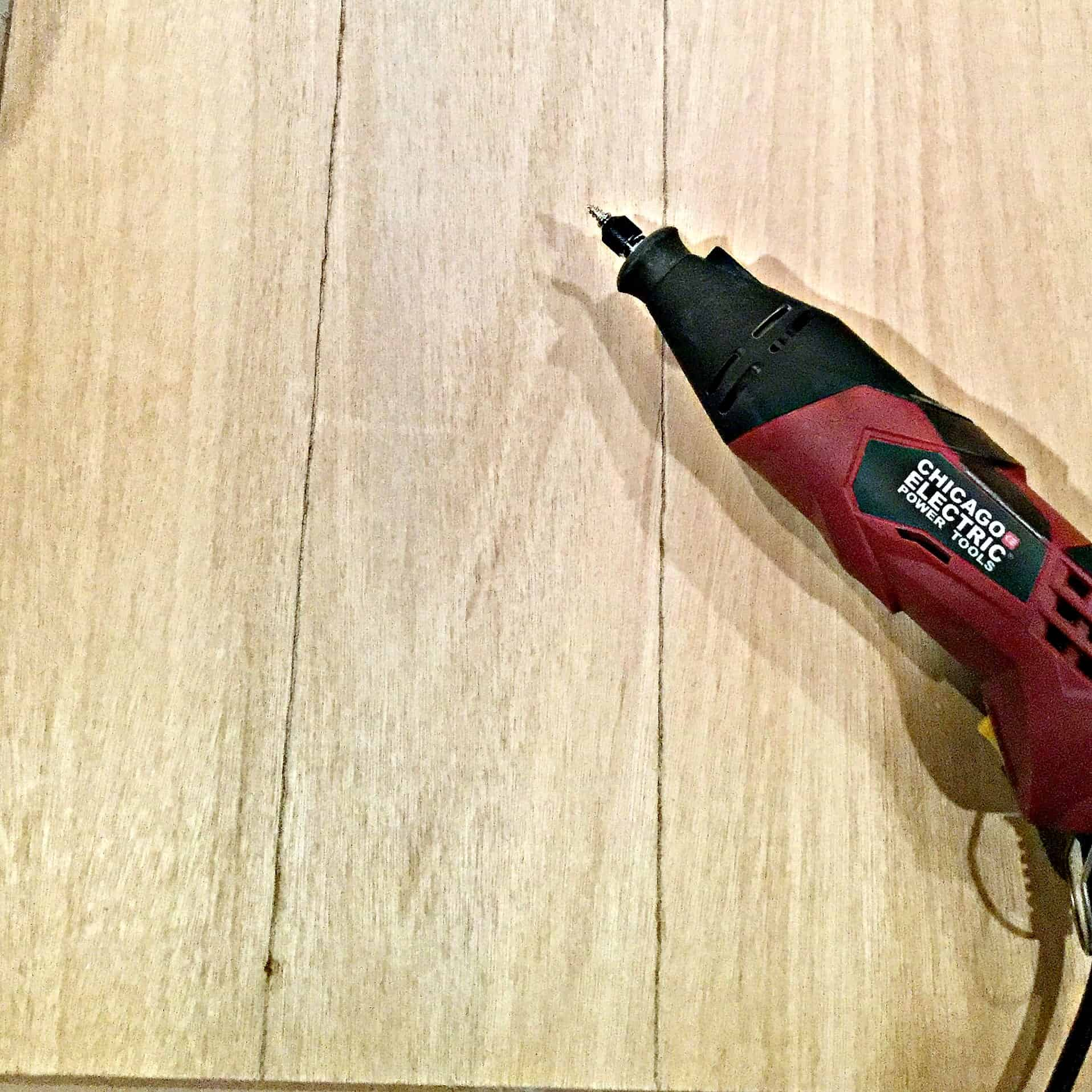 DIY Faux Shiplap Using A Dremel Tool-Creating Grooves in Plywood