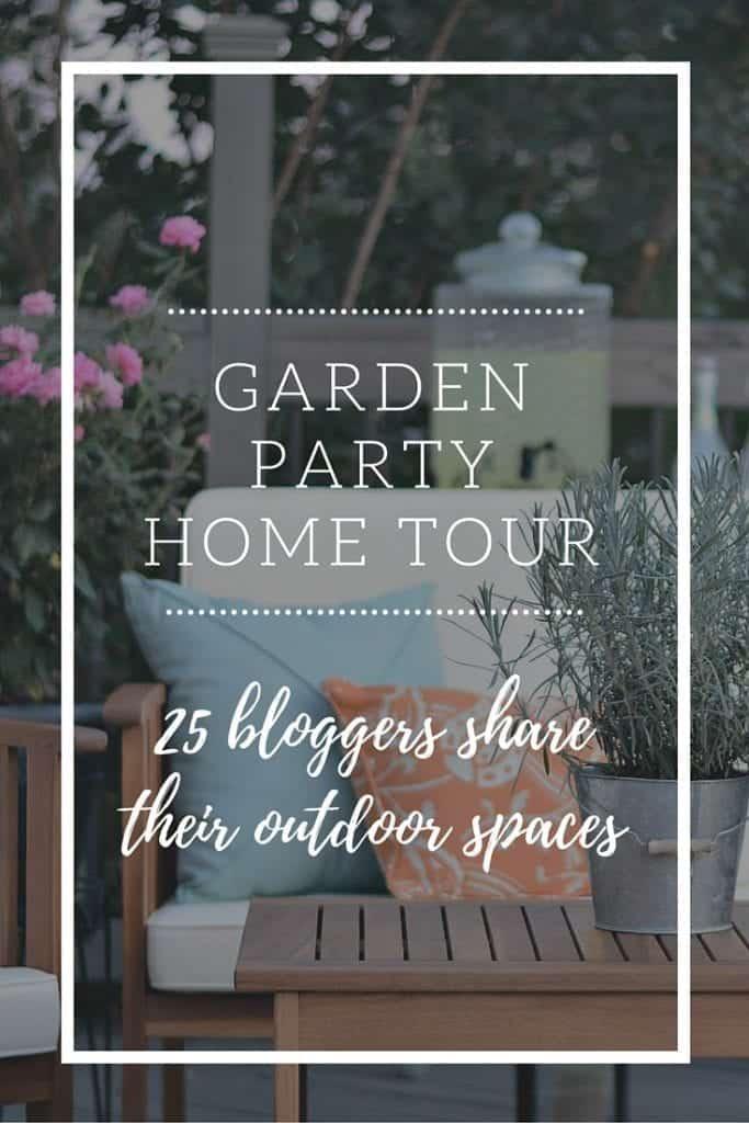 Garden party home tour