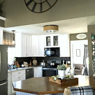 painting-kitchen-cabinets-the-right-way-kitchen-island-view-from-living-room