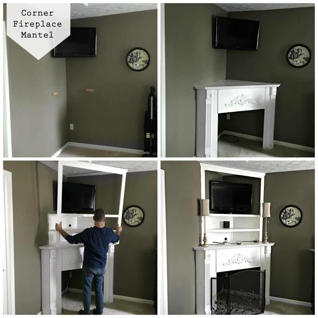 Corner Fireplace Mantel Collage - DIY Corner Fireplace Mantel (in A Day!) Snazzy Little Things