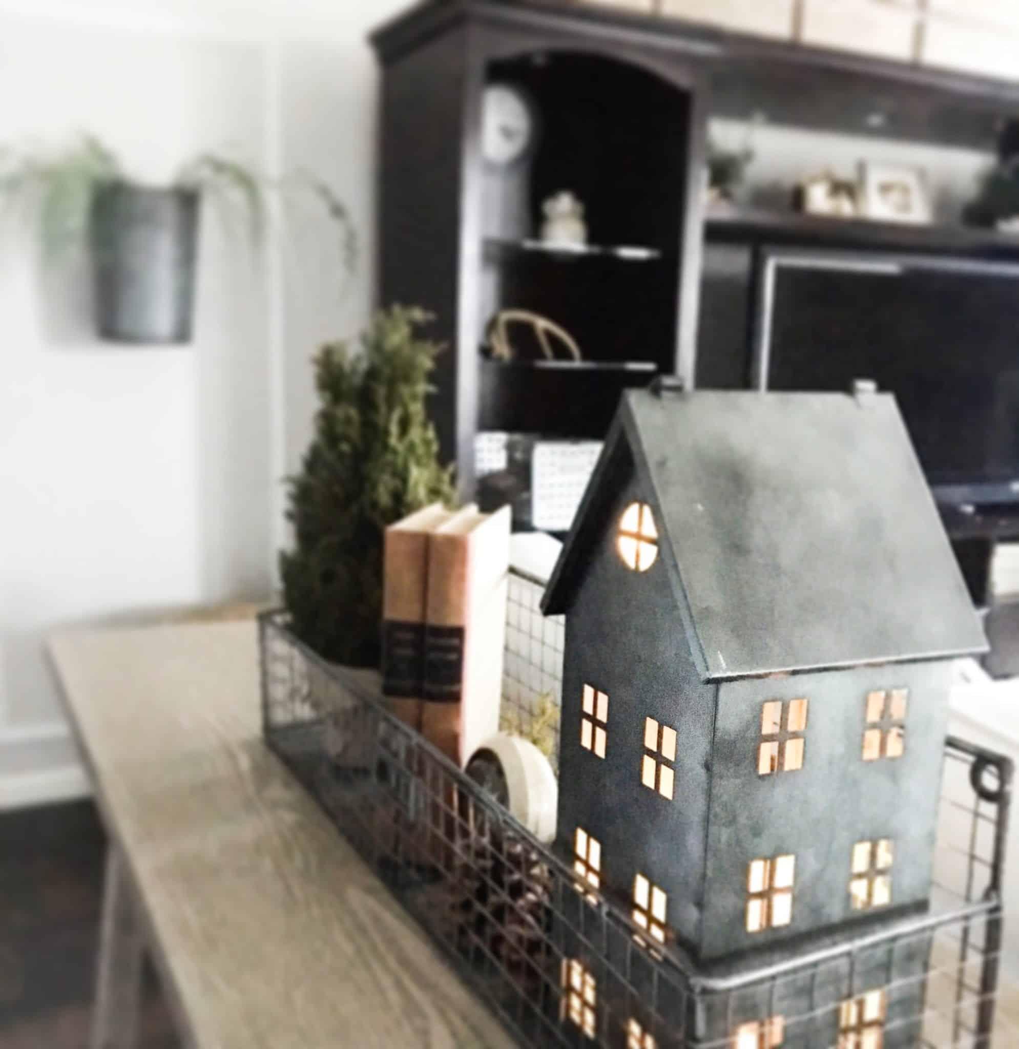 Winter Home Tour 2017 galvanized tin house