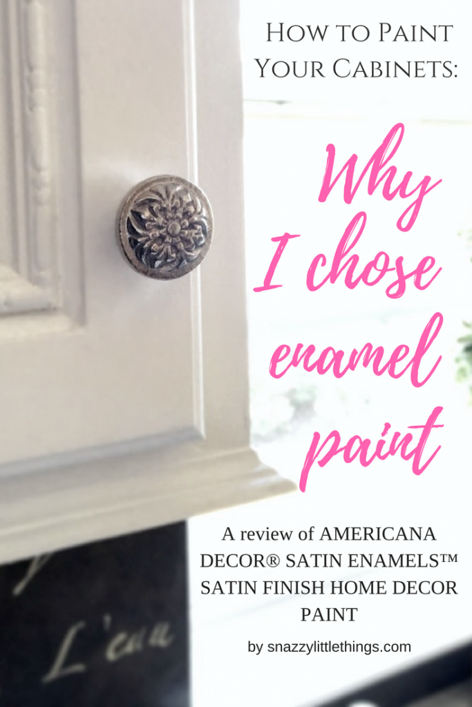 Painting kitchen cabinets, enamel paint, water based enamel