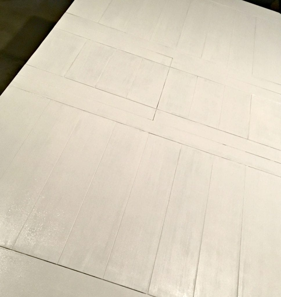 dark-table-painted-white-farmhouse-style rolled on